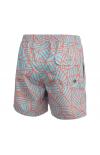 rookiro-Premium-Badeshorts-Herren-Coral-hellblau-mittellang